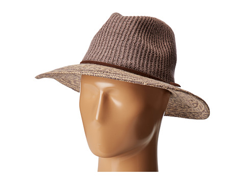 San Diego Hat Company CTH8076 Knit Pattern Fedora - Grey