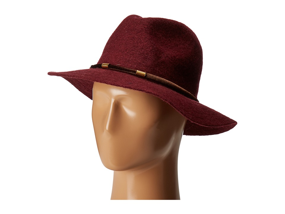 San Diego Hat Company - CTH8074 Knit Fedora with Velvet Band (Wine) Fedora Hats