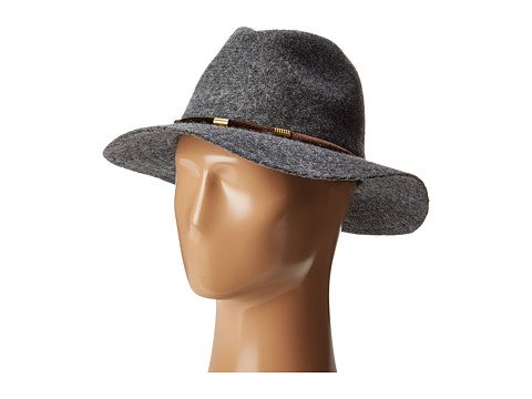San Diego Hat Company CTH8074 Knit Fedora with Velvet Band - Charcoal
