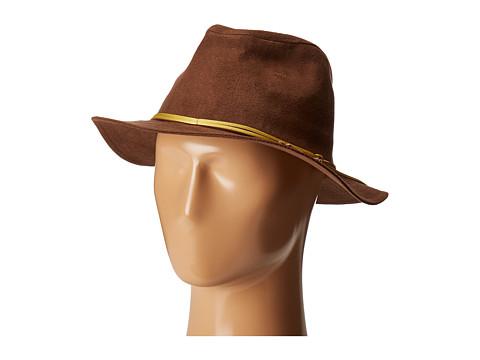 San Diego Hat Company CTH8072 Faux Suede Fedora - Camel