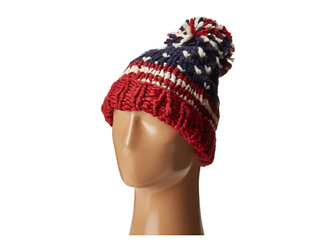 San Diego Hat Company KNH3453 American Flag Beanie - Red