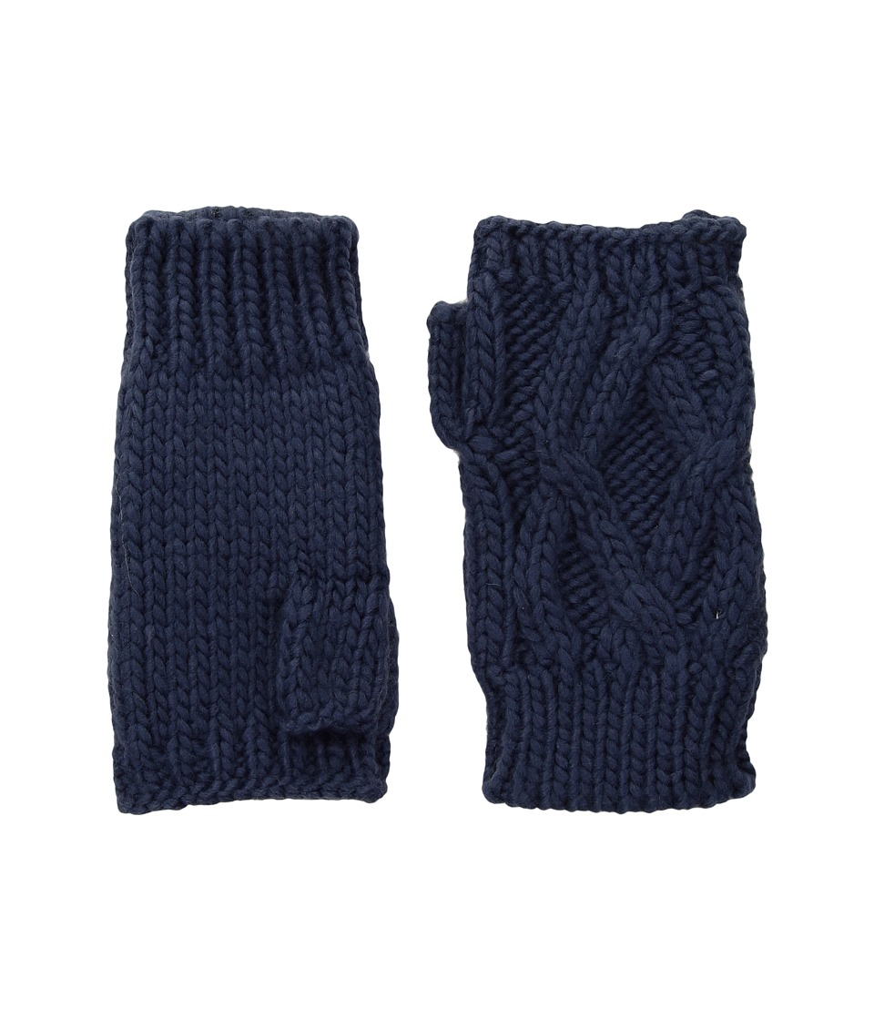 San Diego Hat Company KNG3495 Cable Knit Fingerless Gloves (Blue) Dress Gloves
