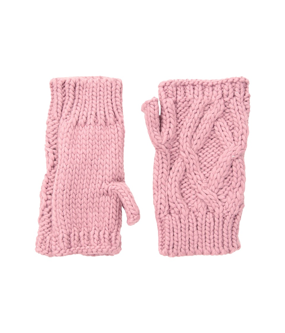 San Diego Hat Company KNG3495 Cable Knit Fingerless Gloves (Pink) Dress Gloves