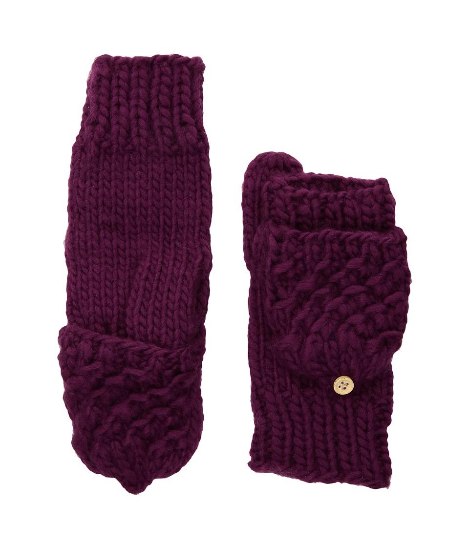 San Diego Hat Company KNG3493 Knit fingerless Gloves (Burgundy) Dress Gloves