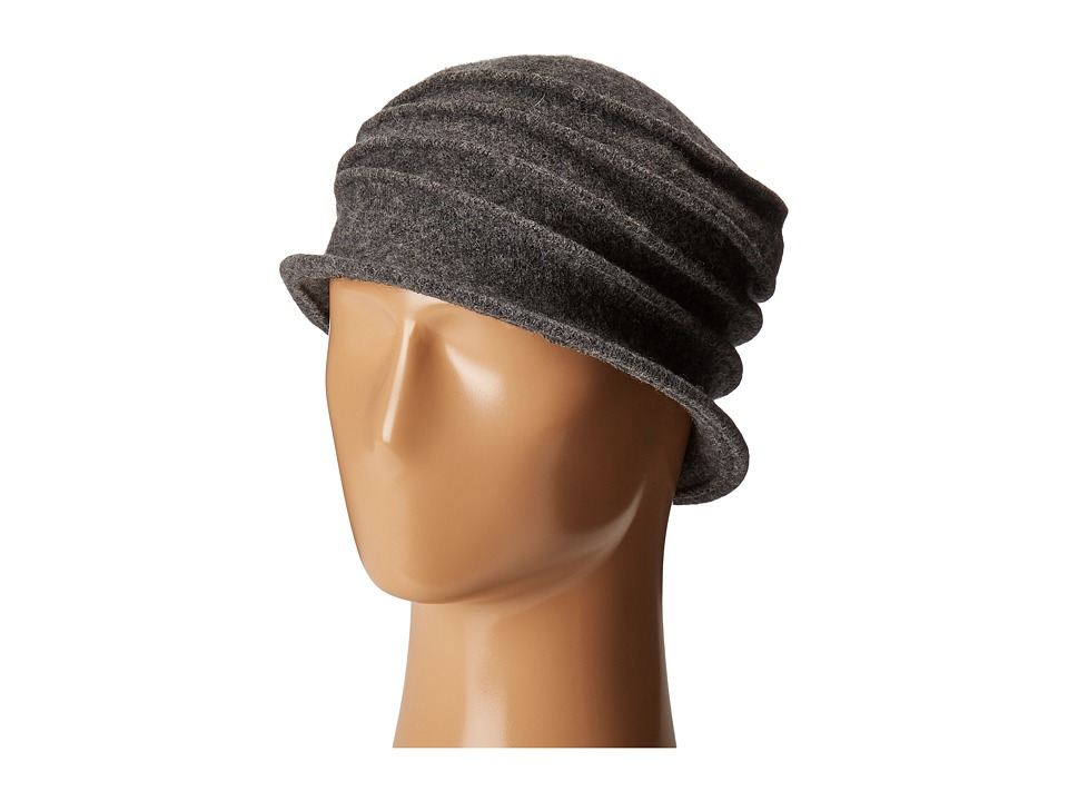 San Diego Hat Company - CTH8089 Soft Knit Cloche with Accordion Detail (Grey) Knit Hats