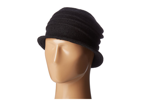 San Diego Hat Company CTH8089 Soft Knit Cloche with Accordion Detail - Black