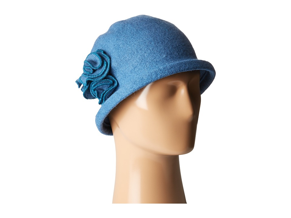San Diego Hat Company - CTH8088 Soft Knit Cloche with Side Flower (Teal) Knit Hats