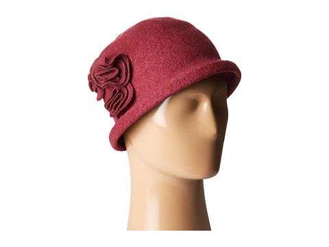 San Diego Hat Company CTH8088 Soft Knit Cloche with Side Flower - Wine