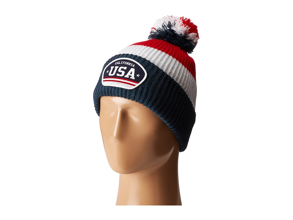 San Diego Hat Company - SLW3564 USA Beanie (Multi) Beanies