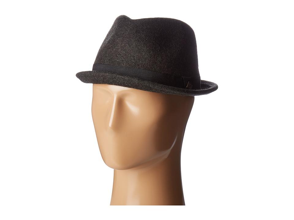 San Diego Hat Company - SDH9442 Wool Porkpie Hat (Charcoal) Caps