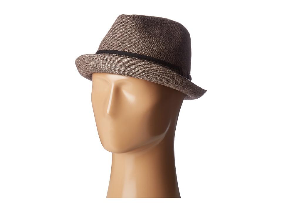 San Diego Hat Company - SDH9446 Tweed Porkpie Hat (Brown) Caps