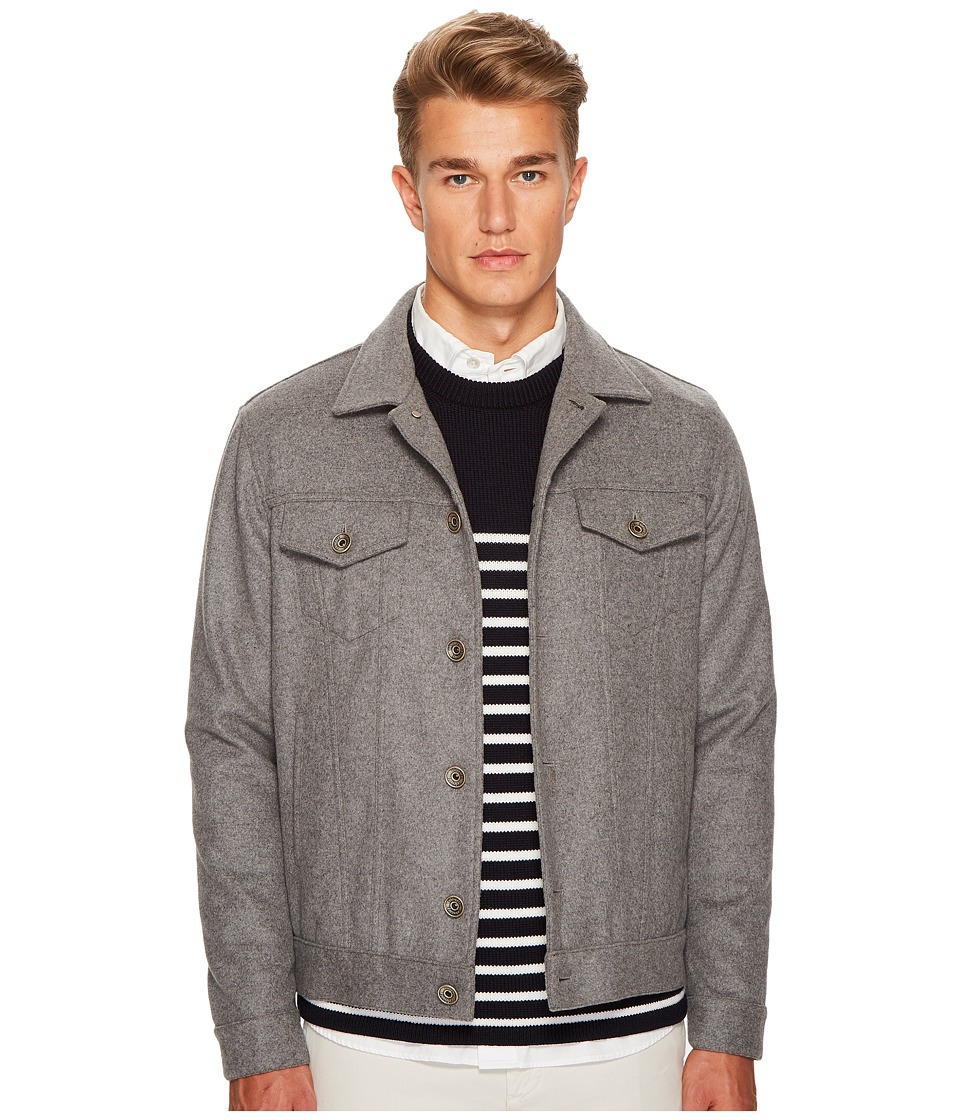 eleventy - Flannel Denim Style Jacket (Grey) Mens Coat