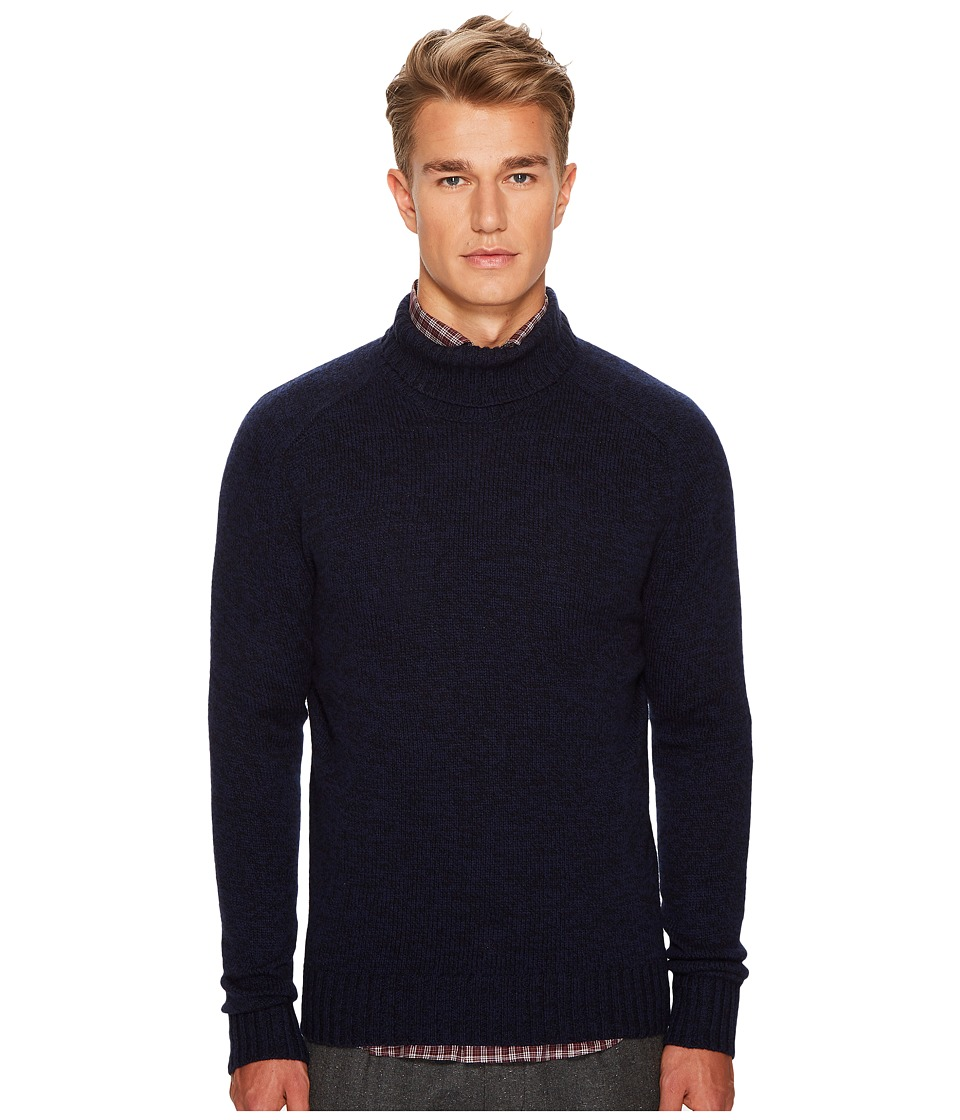 eleventy - Melange Turtleneck (Navy) Mens Sweater