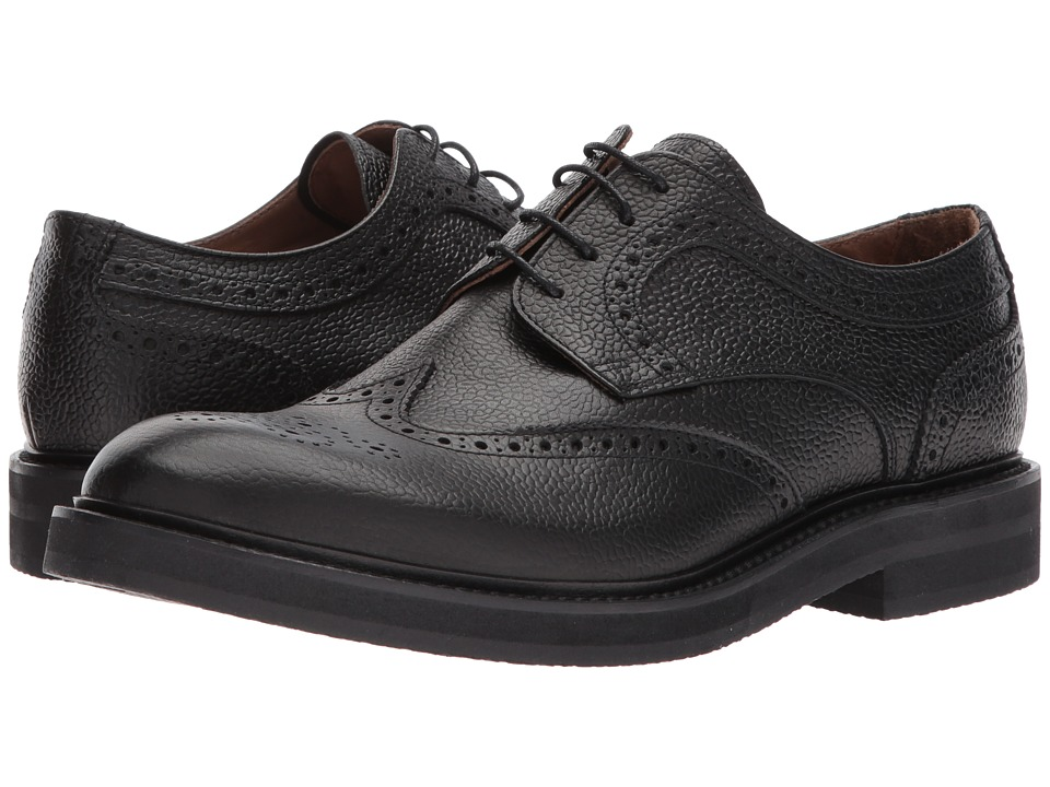eleventy - Pebbled Leather Wingtip Lace-Up