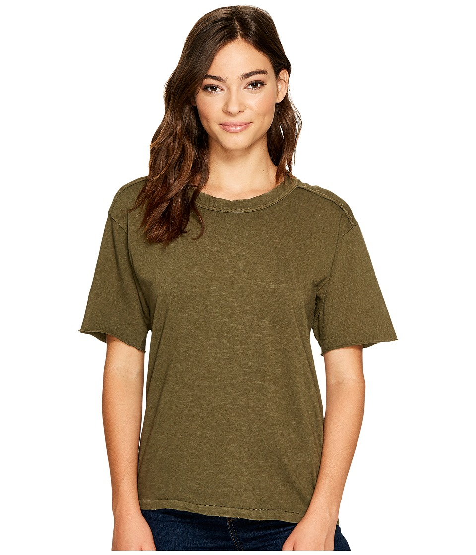 Splendid Cotton Slub T-Shirt (Antique Olivine) Women