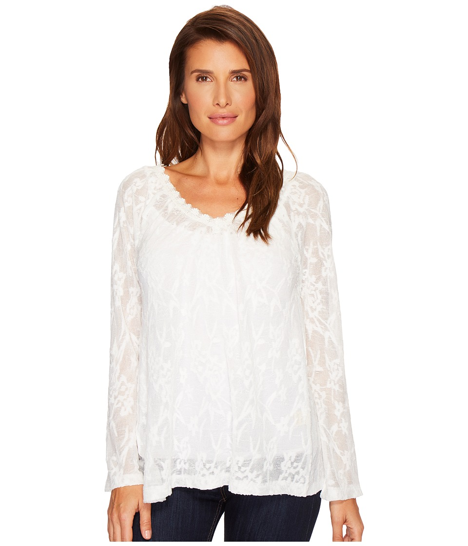 Dylan by True Grit - Floral Crochet Lace Smock V