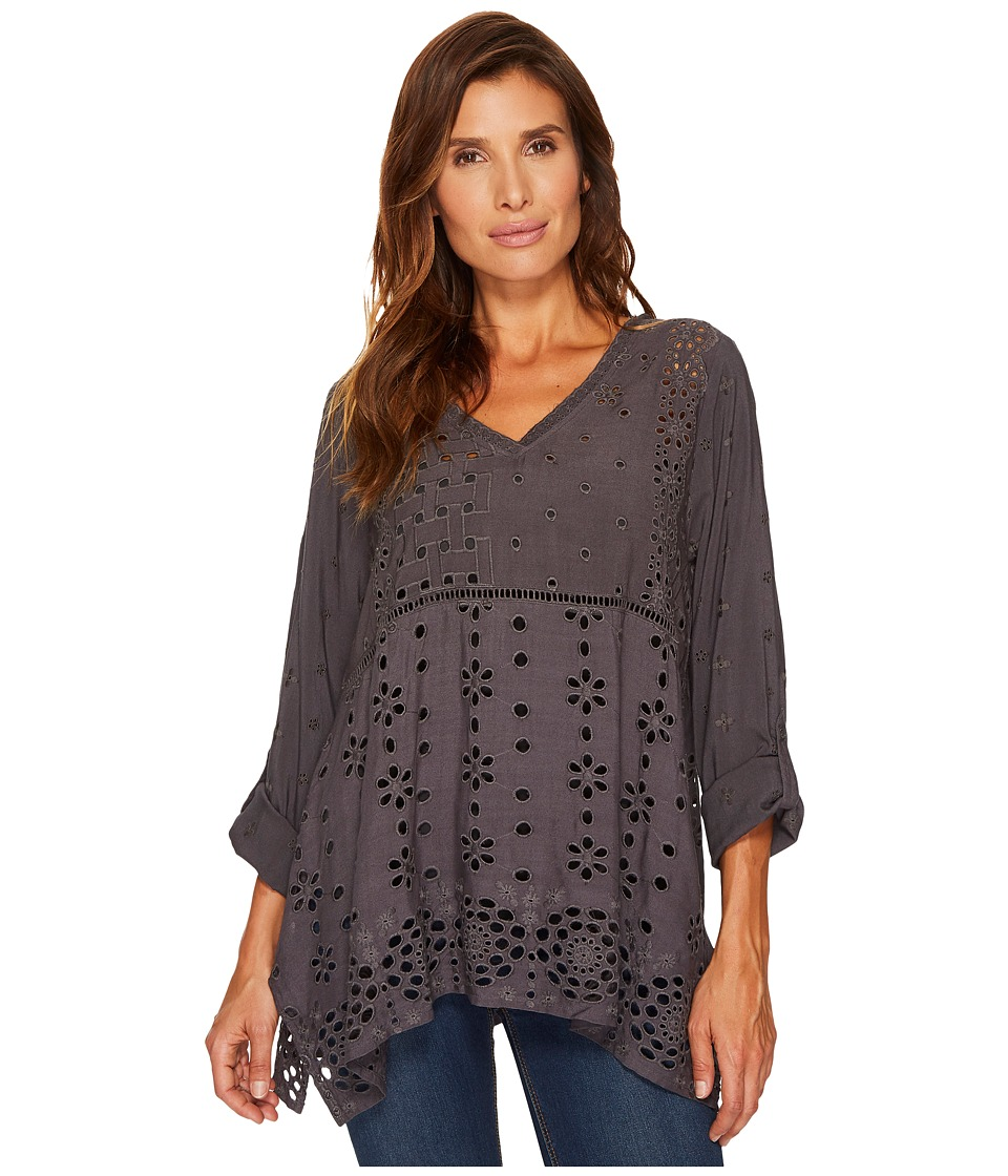 Dylan by True Grit Dylan by True Grit - Embroidered Eyelet Slub Challis Coquette Pullover