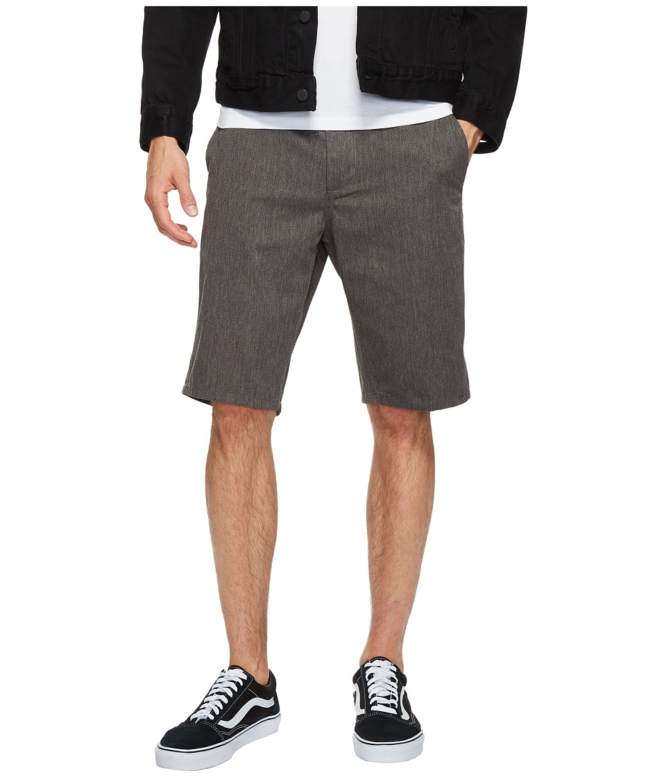 Obey Straggler Shorts (Heather Grey) Men