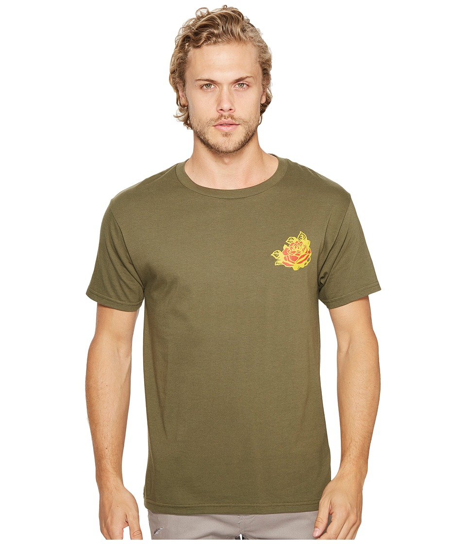 Obey Kiss Me Deadly Tiger Tee (Military Olive) Men