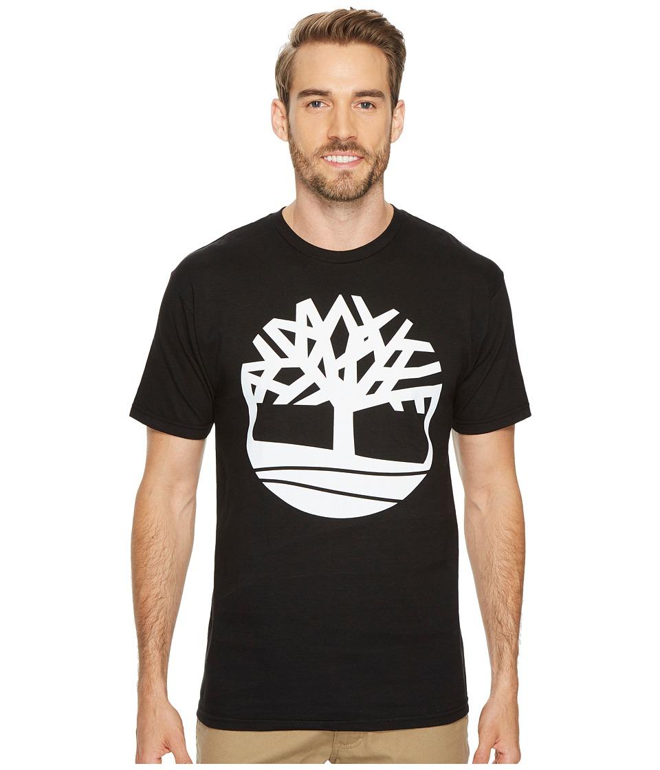 Timberland Short Sleeve Tree Tee (Black) Men