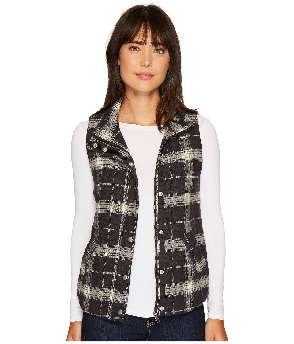 Dylan by True Grit - Melange Flannel Frosty Tipped Classic Vest with Cozy Lining