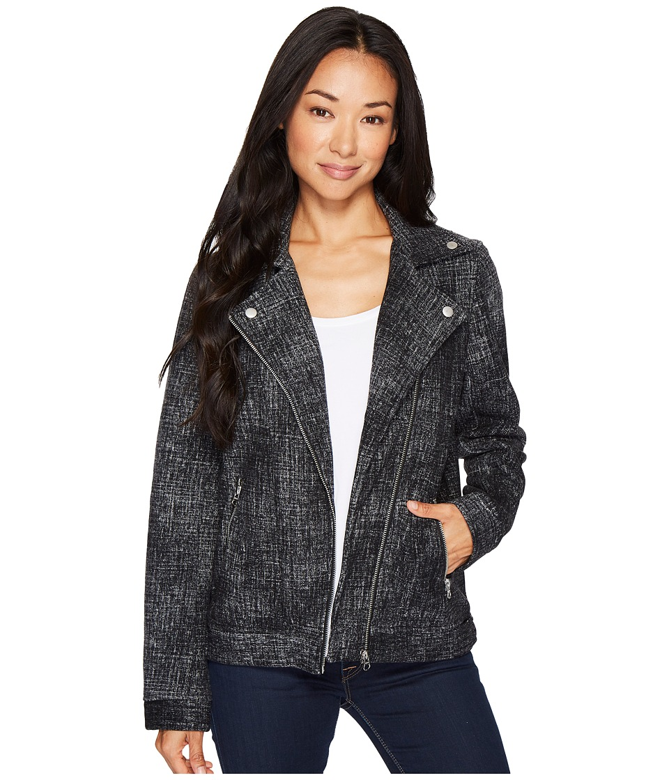 Dylan by True Grit - Distressed Moto Bomber Jacket