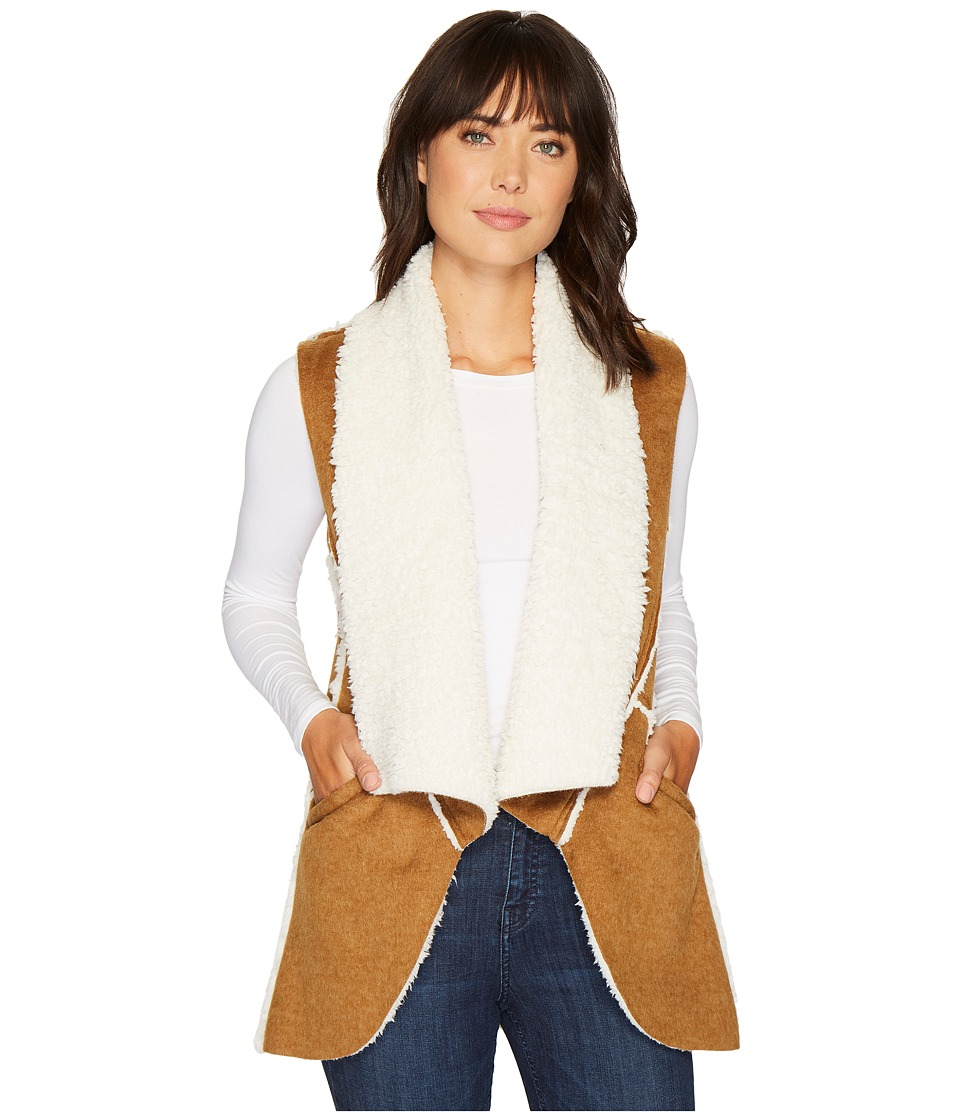 Dylan by True Grit - Flannel Sherpa Road Trip Vest with P...