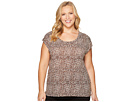 MICHAEL Michael Kors - Plus Size Leopard Elliptical Top