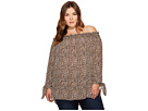 MICHAEL Michael Kors - Plus Size Leopard Off Shoulder Top