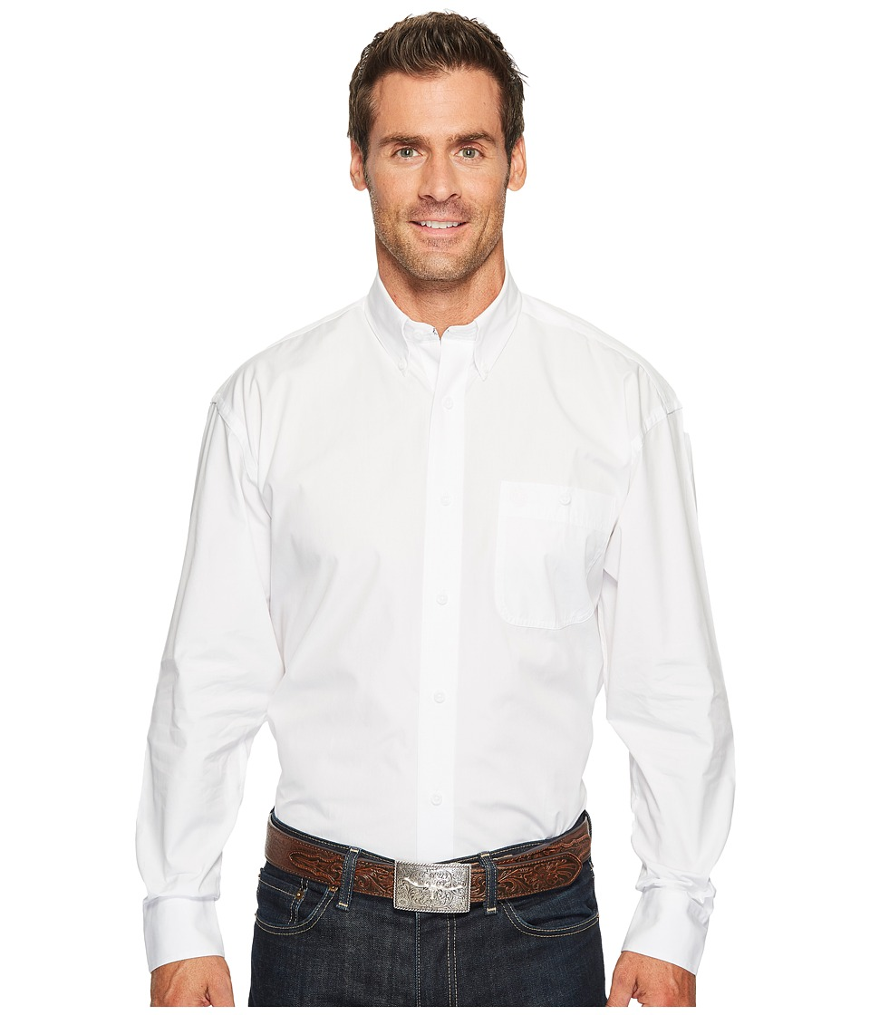Wrangler - George Strait Shirt Solid (White) Men's Clothing