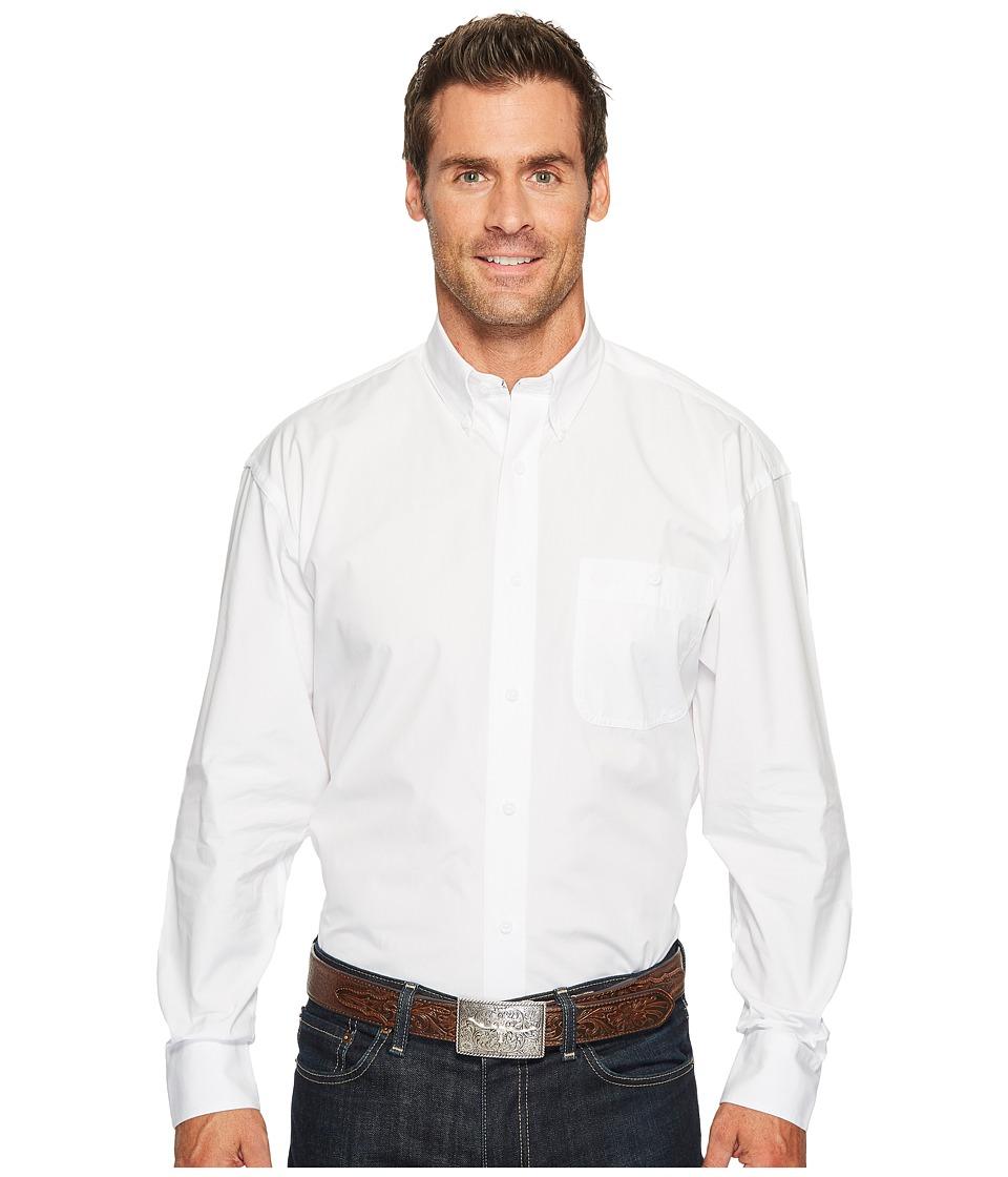 Wrangler - George Strait Shirt Solid (White) Men's Clothing