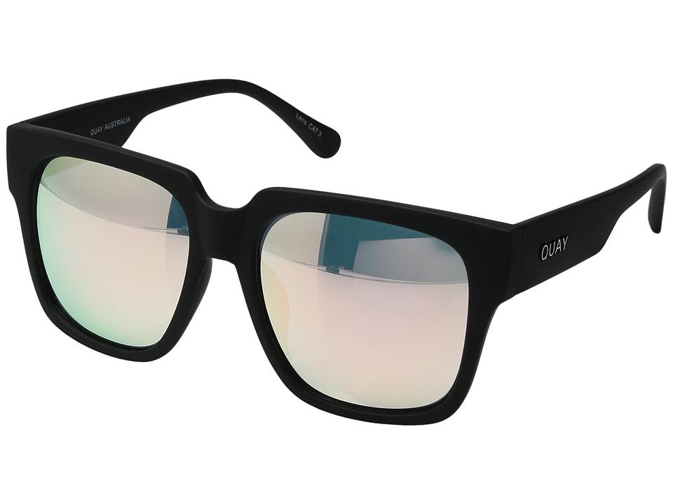 QUAY AUSTRALIA - On The Prowl (Black/Pink) Fashion Sunglasses