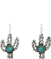 M&F Western - Cactus and Turquoise Stone Earrings