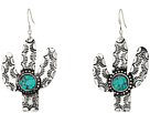 M&F Western Cactus and Turquoise Stone Earrings