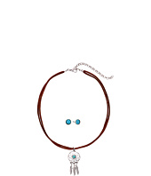M&F Western - Dreamcatcher on Suede Choker/Earrings Set