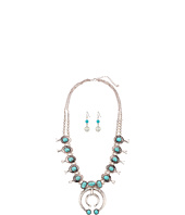 M&F Western - Squash Blossom with Turquoise Necklace/Earrings Set