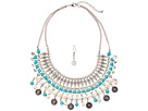 M&F Western Turquoise and Ivory Collar/Earrings Set