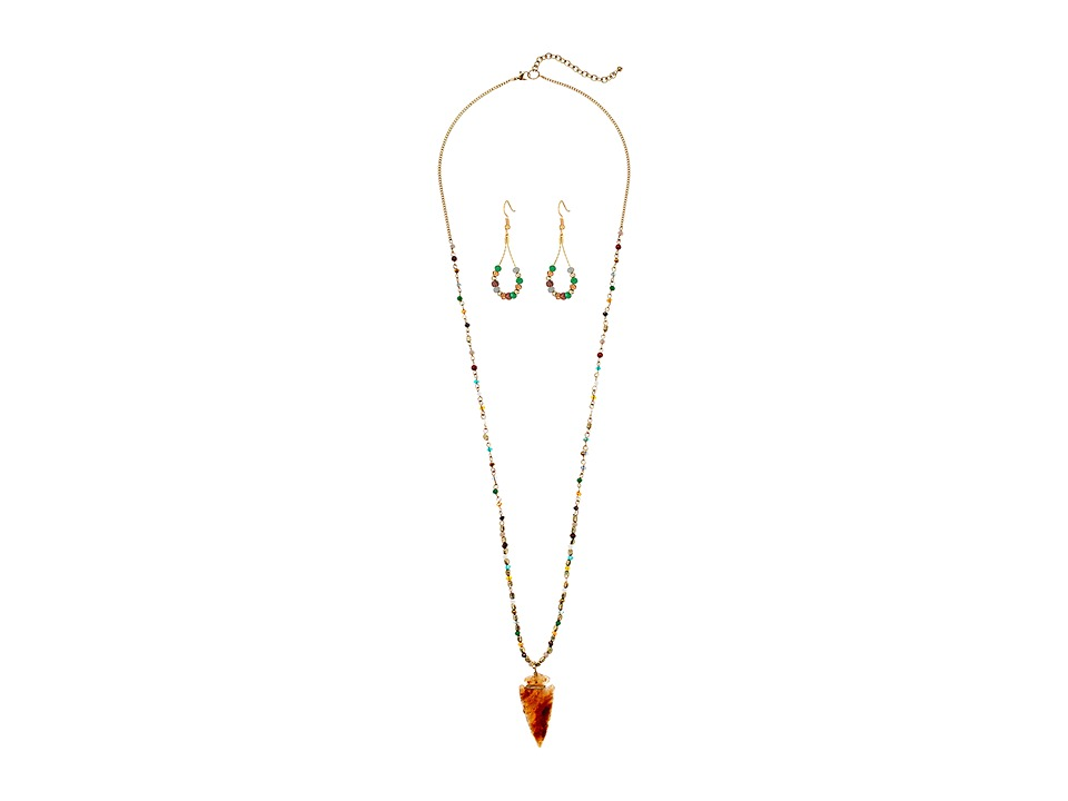 M&F Western - Arrow and Beads Necklace/Earrings Set (Mult...