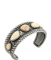 M&F Western - Rope Edge with Ivory Stone Cuff Bracelet