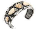 M&F Western Rope Edge with Ivory Stone Cuff Bracelet