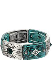 M&F Western - Silver and Patina Stretch Bracelet