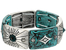 M&F Western Silver and Patina Stretch Bracelet