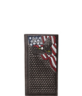 M&F Western - Basketweave Patriotic Rodeo Wallet