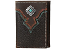 M&F Western - Turquoise Stone Concho Trifold Wallet