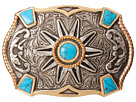 M&F Western Crumrine Turquoise Stone Buckle