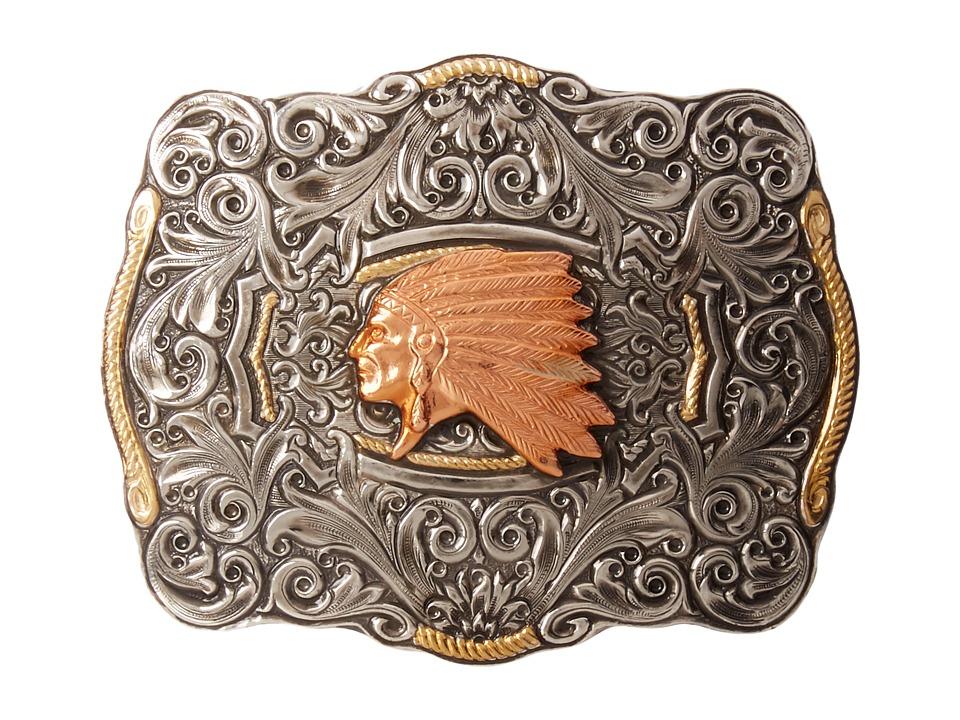 M&F Western - Crumrine Indian Head Buckle (Silver/Copper)...