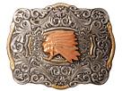 M&F Western Crumrine Indian Head Buckle