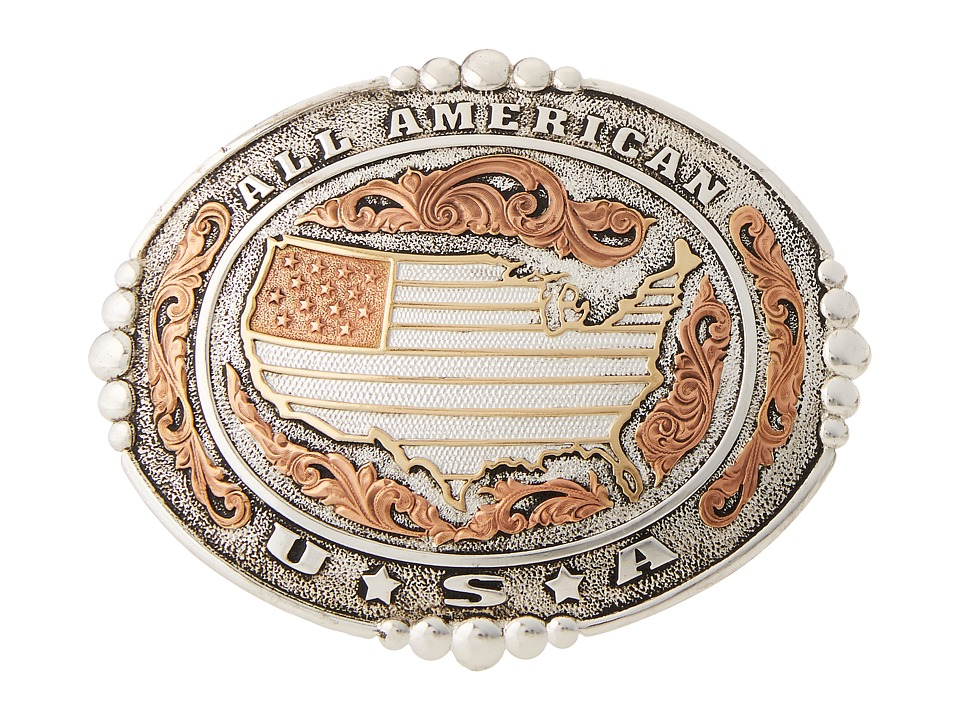 M&F Western - All American Buckle (Silver/Gold/Copper) Me...
