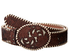 M&F Western Ivory Lace Floral Overlay Belt