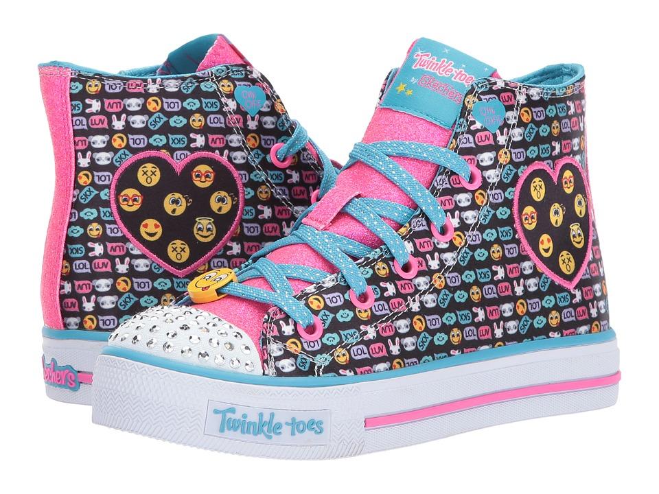 SKECHERS KIDS Twinkle Toes Shuffles 10830L Lights (Little Kid/Big Kid) (Black/Multi) Girl's Shoes